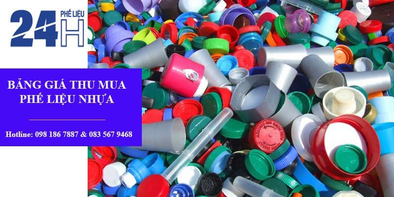 Bảng giá phế liệu nhựa tại Mua Phế Liệu 24H