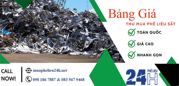 Bảng giá thu mua phế liệu sắt giá cao tại Mua Phế Liệu 24H